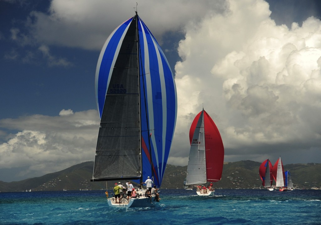 Participants racing on the final day of the 2015 BVI Spring Regatta were blessed with perfect sailing conditions on Easter Sunday  © Todd VanSickle/BVI Spring Regatta