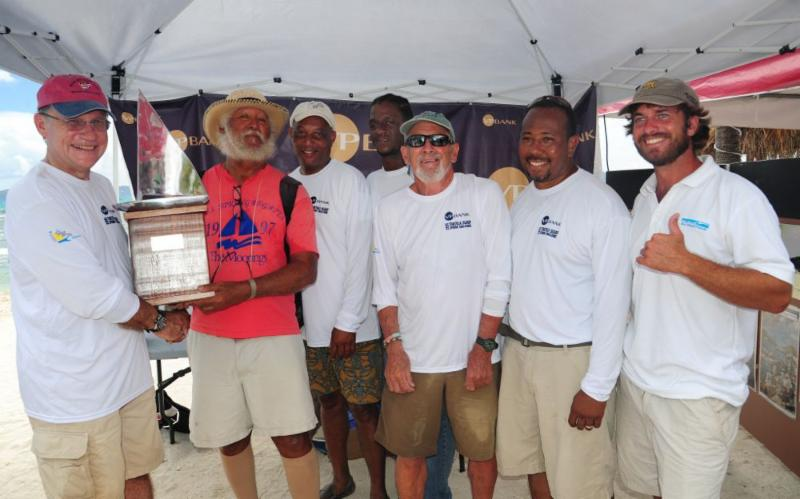 Winning crew skippered by Presley King, Tortolan Sloop, Esmie © Todd vanSickle/BVI Spring Regatta