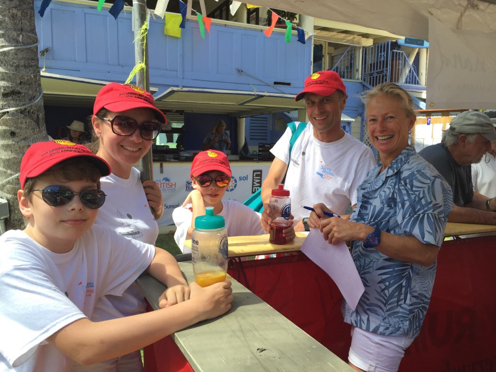 The Puche family from Berlin - looking forward to racing their Moorings 4800, Slow Motion in the BVI Sailing Festival © BVI Spring Regatta & Sailing Festival