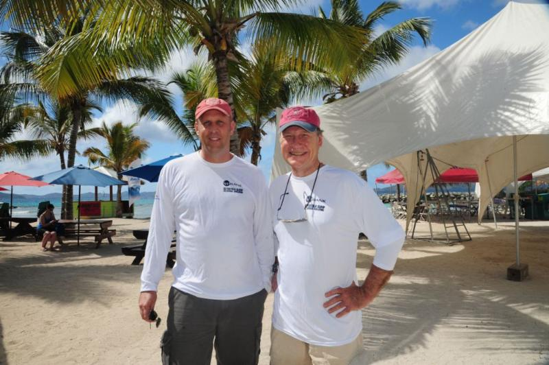 VP Bank President, Sjoerd Koster and Governor John S. Duncan OBE ©Todd vanSickle/BVI Spring Regatta