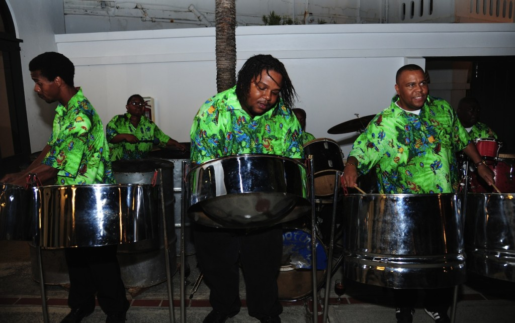 The sound of a steel pan band welcomes sailors at the Governor's reception. Photo: Topdd vanSickle.BVI Spring Regatta