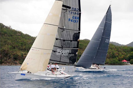 Willem Wester's Antilope and Peter Peake's Peake Yacht Services Slippery Credit: ©Todd VanSickle/BVI Spring Regatta & Sailing Festival