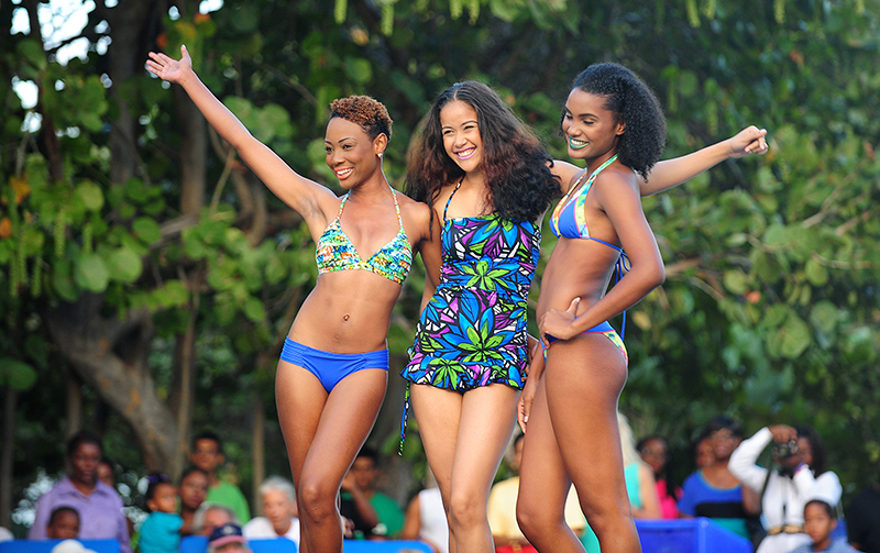 The Trèfle Swimwear Show took place poolside in the Regatta Village.