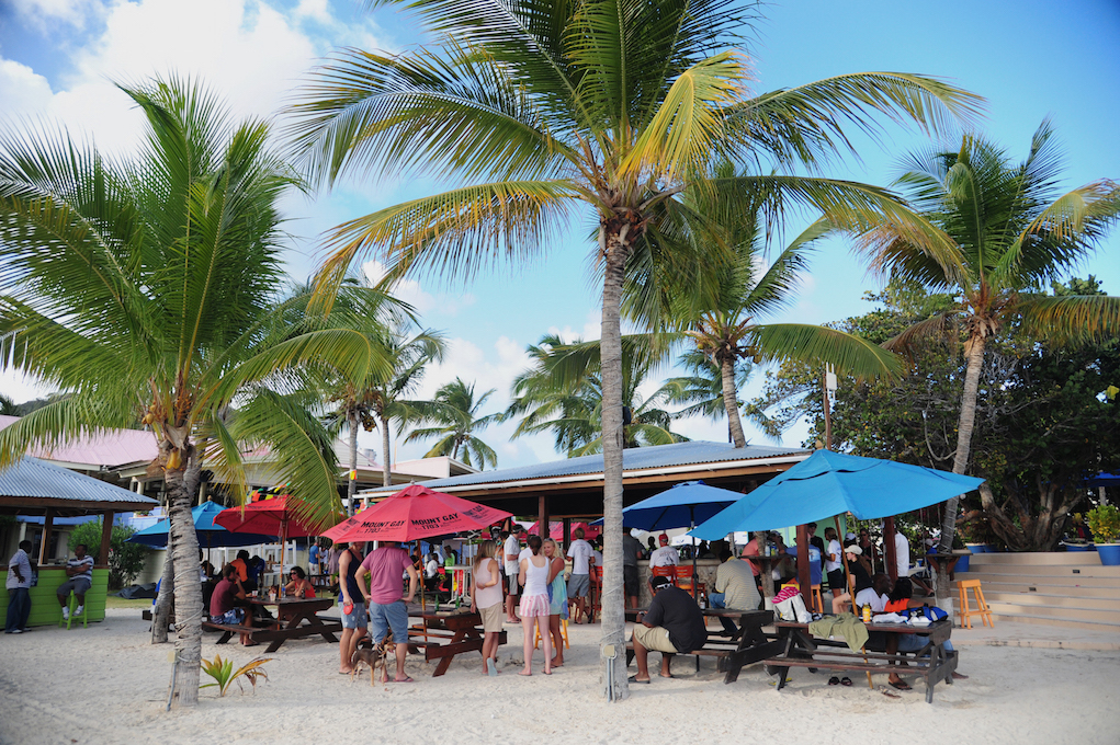 Getting ready to party on the beach at Nanny Cay with the opening at Peg Legs and the Mount Gay Red Cap party late into the evening © BVI Spring Regatta/Todd VanSickle