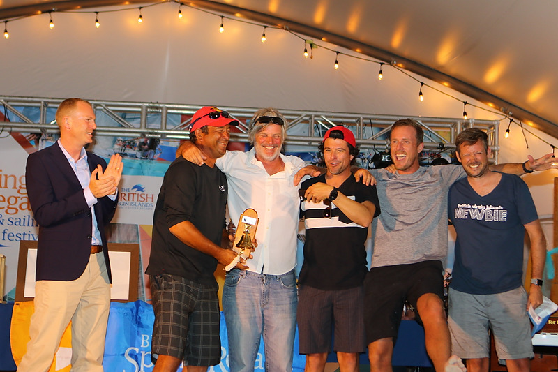 ef79d93d His Excellency The Governor, Mr Augustus 'Gus' Jaspert presents awards to  the Best BVI boat and 1st place in Racing 3 to Henry Leonnig and team on  his ...