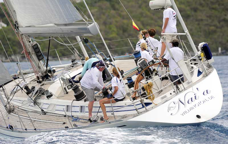Bob & Kristin Beltrano's Swan 53, Nai'a (USA) will compete once again Credit: Todd van Sickle
