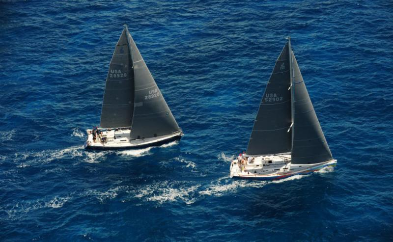 Sunset Child/Team Gotham and Team McFly/El Ocaso ©Todd VanSickle/BVI Spring Regatta